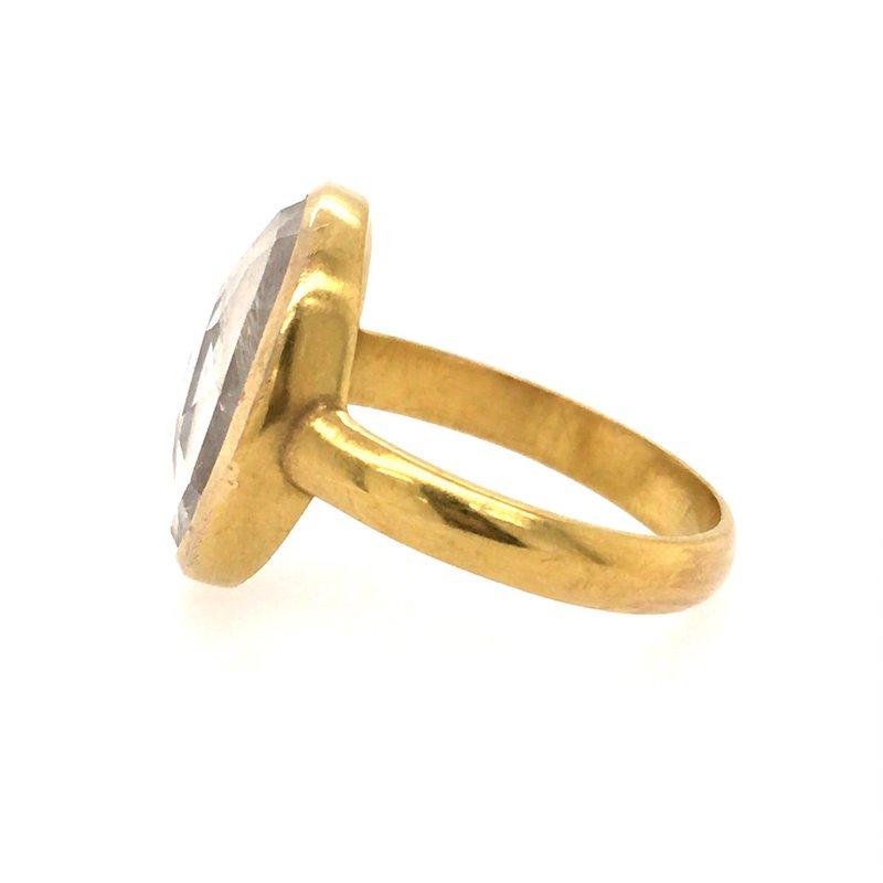 BRIAN'S VAULT Blue Moonstone Slice Ring