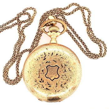 Agassiz Pocket Watch w/ Chain