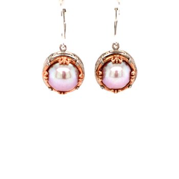 Pink Pearl Drop Earrings