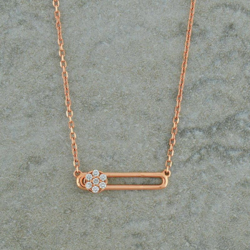 Hulchi Belluni Diamond Slide Necklace