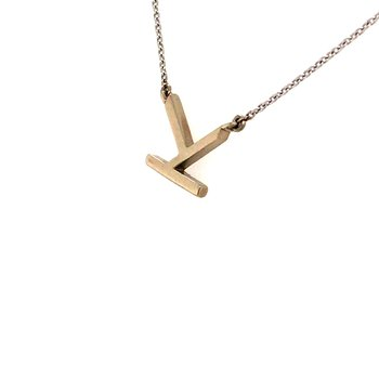 """Initial """"K"""" Necklace"""