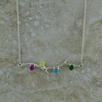 Tree Branch Birthstone Necklace