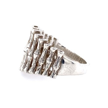 Sterling Bamboo Ring