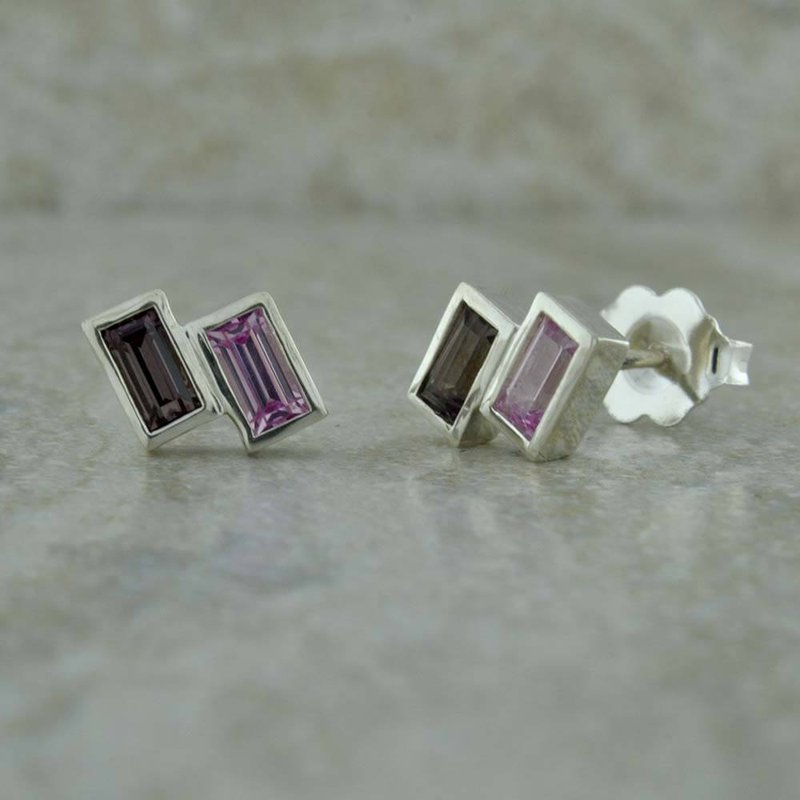 B&C Collections Baguette Studs