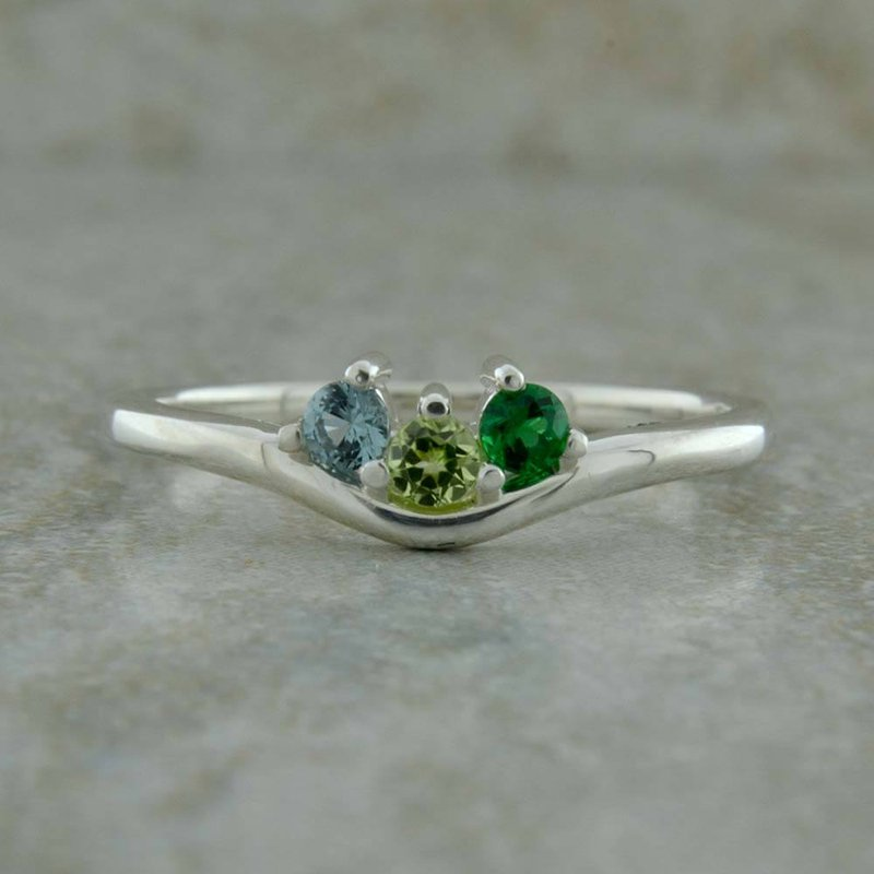 Uniquely Yours . . .  Stackable Mothers Ring