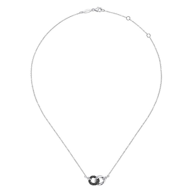 Gabriel & Co. -  IN-STORE COLLECTION Black Spinel Interlocking Necklace