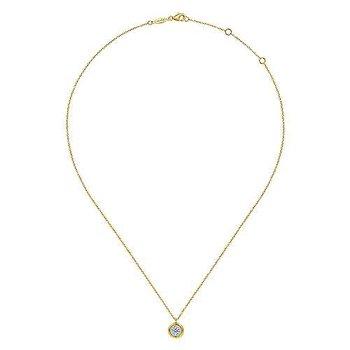 Bezel Framed Diamond Necklace