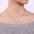 Gabriel & Co. -  IN-STORE COLLECTION Bezel Framed Diamond Necklace