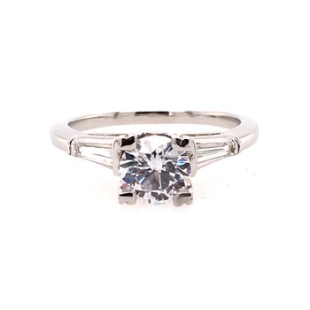 Unique three Stone Engagement Ring
