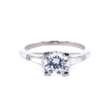 Unique three Stone Engagement Ring