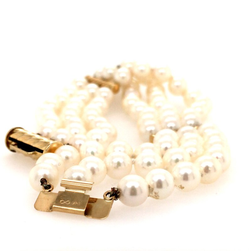 B&C Estate Collection Multi-strand Pearl Bracelet