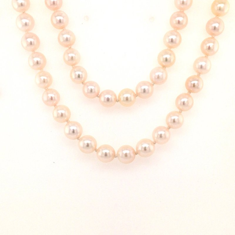 """B&C Collections 30"""" Akoya Pearl Necklace"""