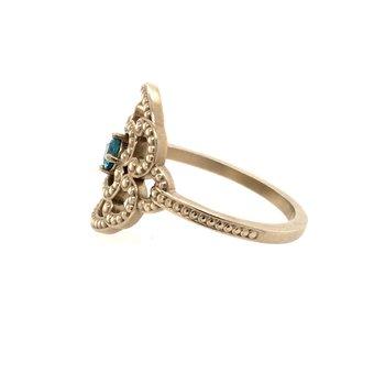 Blue Zircon Fashion Ring