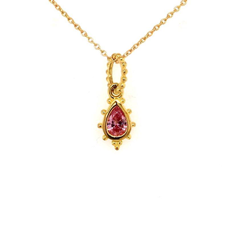BRIAN'S VAULT Pink Crystal Pendant