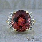 B&C Estate Collection Tourmaline & Diamond Ring