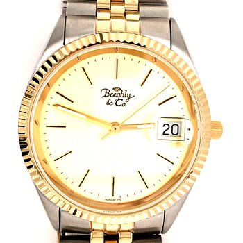 Two Tone Men's Watch