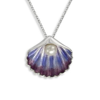 Freshwater Pearl Enamel Necklace