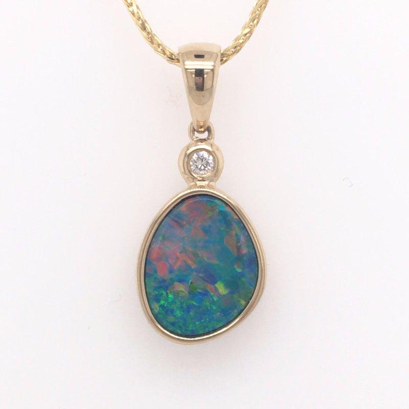 Parlé Austrailian Opal and Diamond Pendant