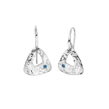 S/S Blue Diamond Trillium Earrings
