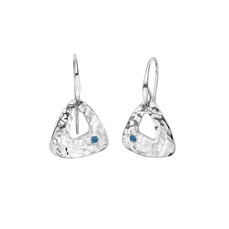 E. L. Designs IN-STORE Collection S/S Blue Diamond Trillium Earrings