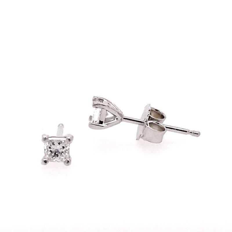 B&C Creations Princess Cut Diamond Studs