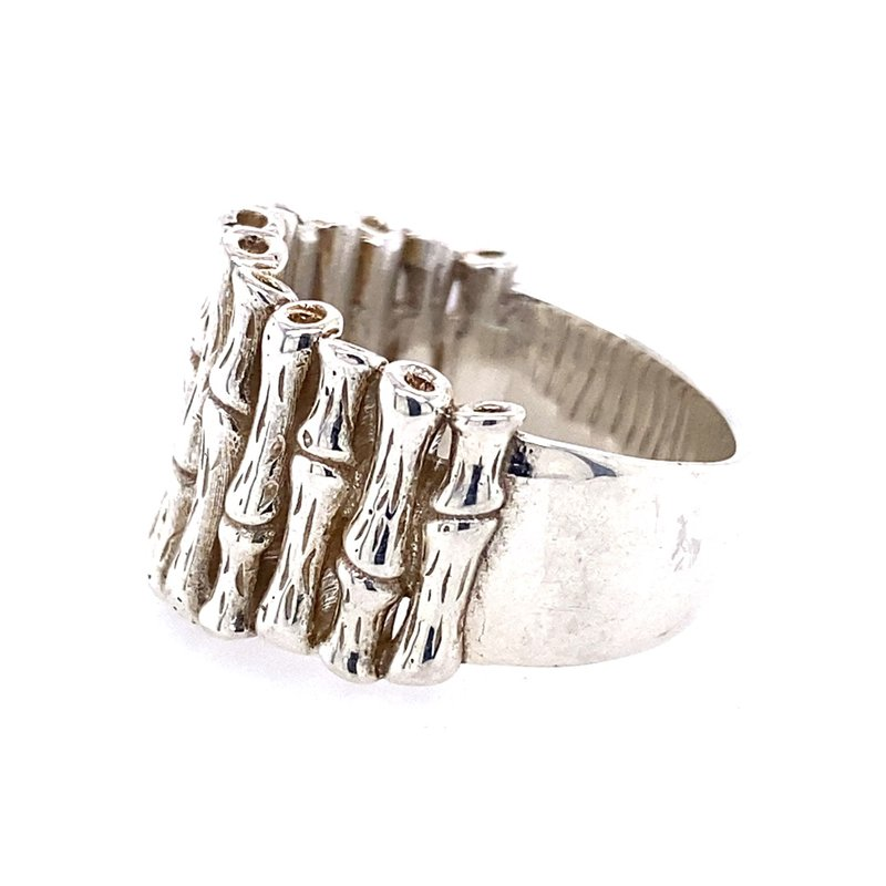 B&C Creations Sterling Bamboo Ring