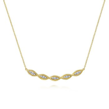 Diamond Twist Bar necklace