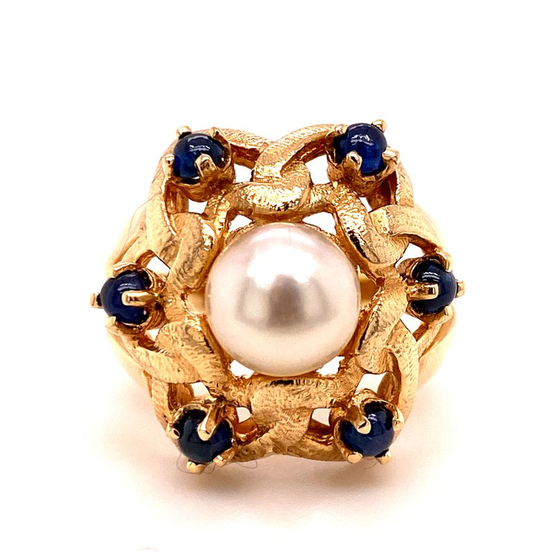 B&C Estate Collection Pearl & Sapphire Ring