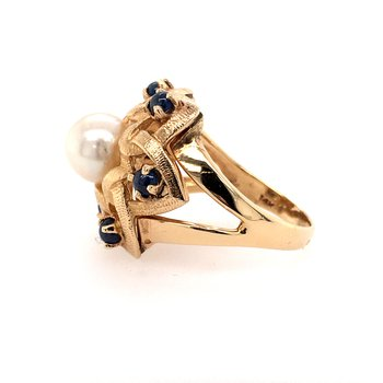 Pearl & Sapphire Ring