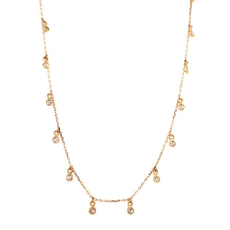 Tresor Rainbow Moonstone dangle Necklace