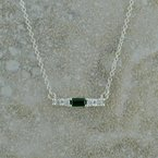 B&C Collections Single Birthstone Bar Necklace
