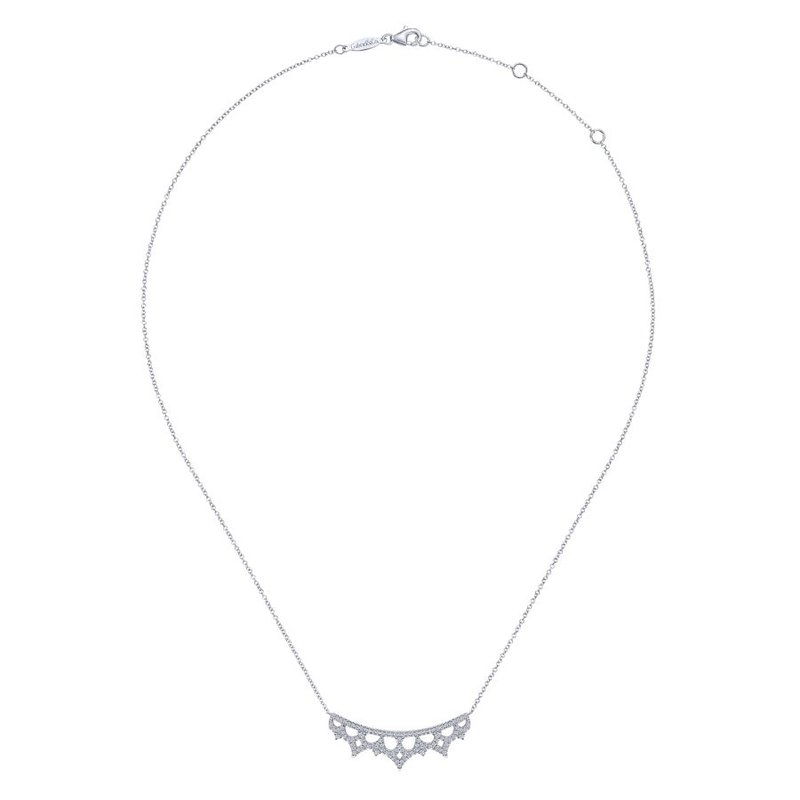 Gabriel & Co. -  IN-STORE COLLECTION Diamond Lace Necklace