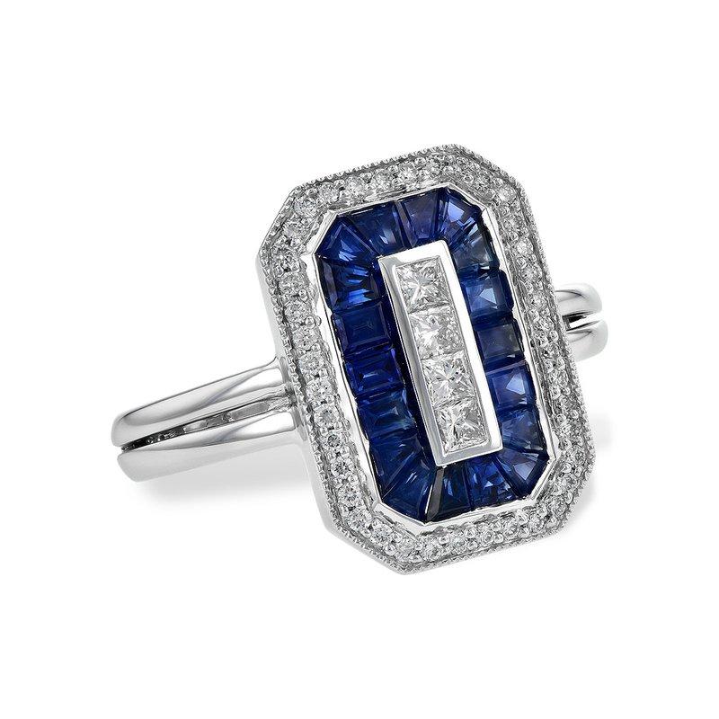Allison Kaufman Sapphire and Diamond Ring