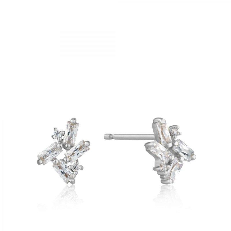 Ania Haie CZ Cluster Baguette Stud Earrings