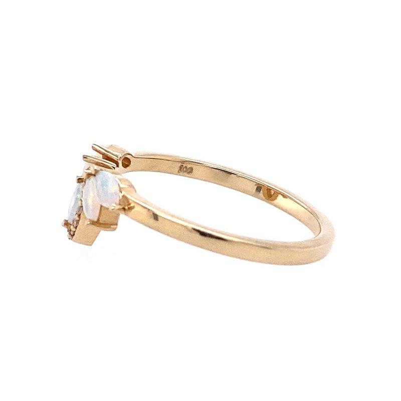 Parlé Australian Opal and Diamond Ring
