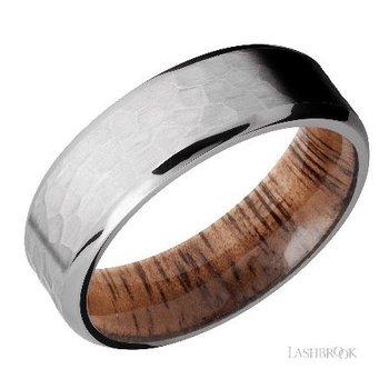 Titanium Band with Koa Wood Sleeve