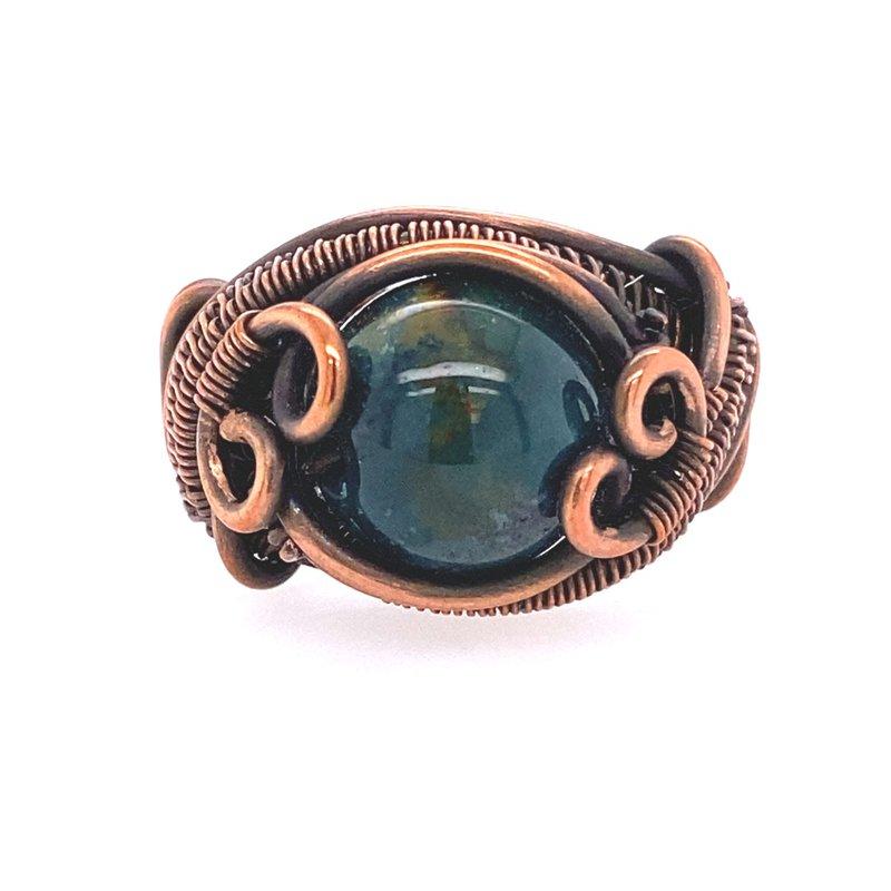 Rapt  Oxidized Chalcedony Ring
