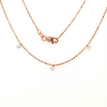 Three Station Diamond by the Yard Necklace