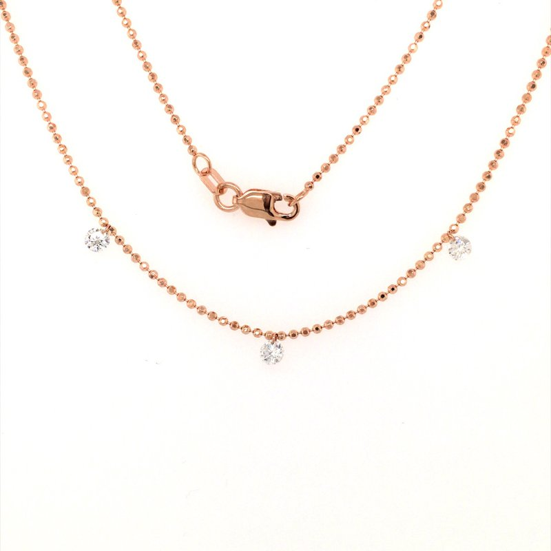 B&C Collections Three Station Diamond by the Yard Necklace