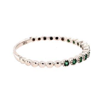 Emerald Beaded Band