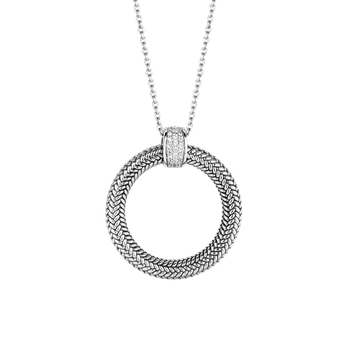 Textured Circle Necklace