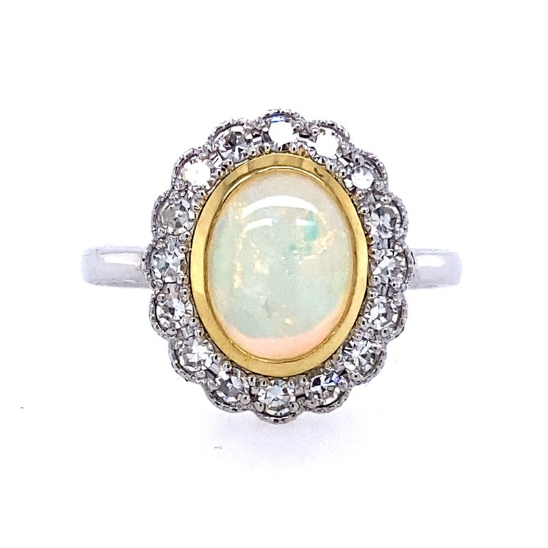 B&C Creations Opal & Diamond Ring