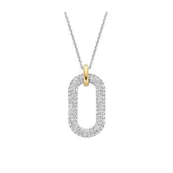 Pave Style Single Link Necklace