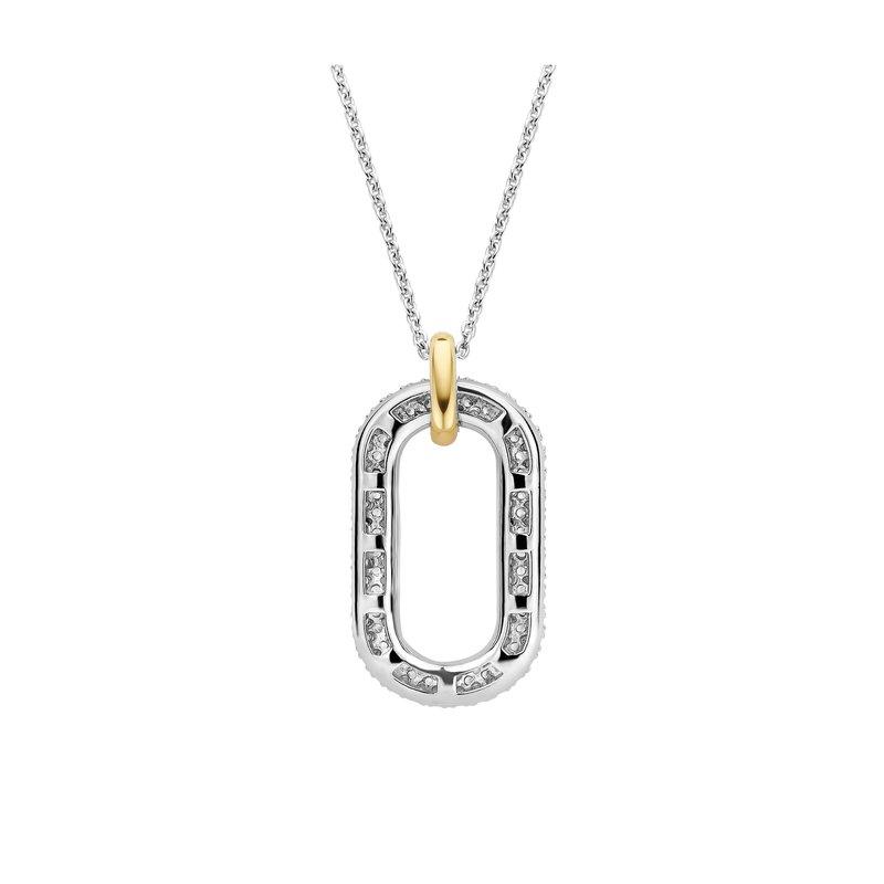Ti Sento Pave Style Single Link Necklace