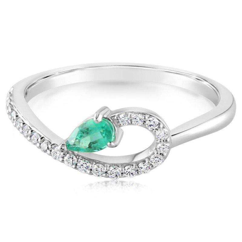 Parlé Emerald and Diamond Ring