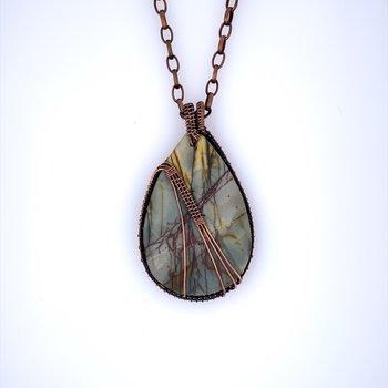 Copper and Picasso Jasper Necklace