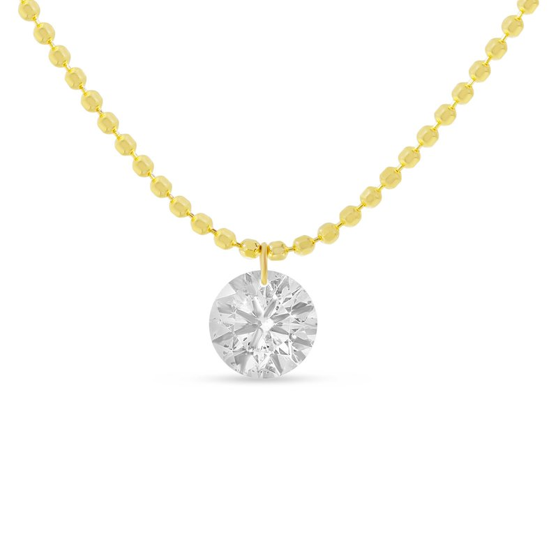 B&C Collections Single Diamond Dash Necklace