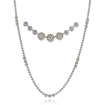White Gold Long Diamond Necklace