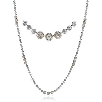 White Gold Long Diamond Necklace