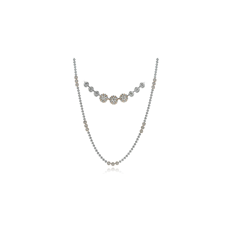 Simon G IN-STORE COLLECTION White Gold Long Diamond Necklace